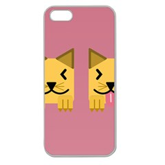 Pet Animal Feline Domestic Animals Apple Seamless Iphone 5 Case (clear)