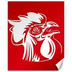Cock Logo Emblem Symbol France Canvas 11  X 14   by Simbadda