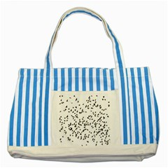 Flock Birds Animals Flying Striped Blue Tote Bag by Simbadda
