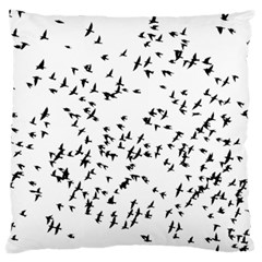Flock Birds Animals Flying Large Flano Cushion Case (one Side) by Simbadda