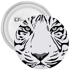 Tiger Pattern Animal Design Flat 3  Buttons by Simbadda