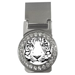 Tiger Pattern Animal Design Flat Money Clips (cz)  by Simbadda
