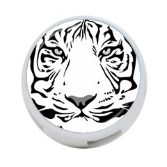 Tiger Pattern Animal Design Flat 4 Port Usb Hub (two Sides)  by Simbadda