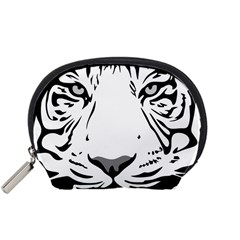 Tiger Pattern Animal Design Flat Accessory Pouches (small)  by Simbadda