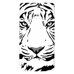 Tiger Pattern Animal Design Flat Galaxy Note 4 Back Case