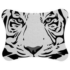 Tiger Pattern Animal Design Flat Jigsaw Puzzle Photo Stand (bow)