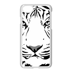 Tiger Pattern Animal Design Flat Apple Iphone 7 Seamless Case (white) by Simbadda
