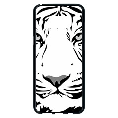 Tiger Pattern Animal Design Flat Samsung Galaxy S8 Plus Black Seamless Case