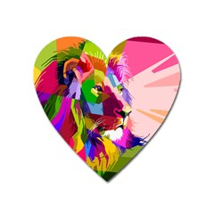 Animal Colorful Decoration Lion Heart Magnet by Simbadda