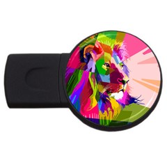 Animal Colorful Decoration Lion Usb Flash Drive Round (2 Gb) by Simbadda