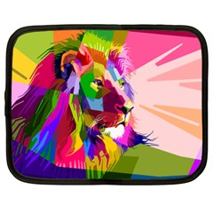 Animal Colorful Decoration Lion Netbook Case (xxl)
