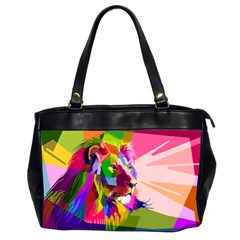 Animal Colorful Decoration Lion Office Handbags (2 Sides)