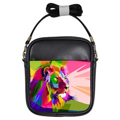 Animal Colorful Decoration Lion Girls Sling Bags