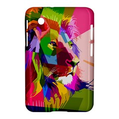Animal Colorful Decoration Lion Samsung Galaxy Tab 2 (7 ) P3100 Hardshell Case