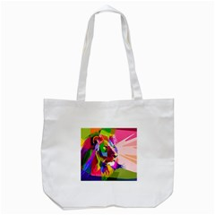 Animal Colorful Decoration Lion Tote Bag (white) by Simbadda