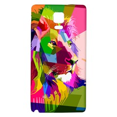 Animal Colorful Decoration Lion Galaxy Note 4 Back Case