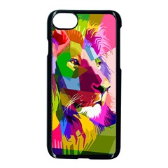 Animal Colorful Decoration Lion Apple Iphone 8 Seamless Case (black) by Simbadda