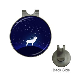 Design Painting Sky Moon Nature Hat Clips With Golf Markers