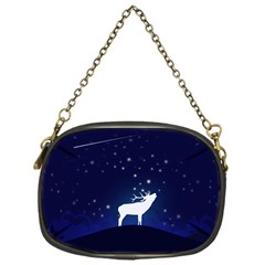Design Painting Sky Moon Nature Chain Purses (one Side)  by Simbadda