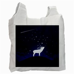 Design Painting Sky Moon Nature Recycle Bag (one Side)