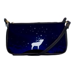 Design Painting Sky Moon Nature Shoulder Clutch Bags by Simbadda