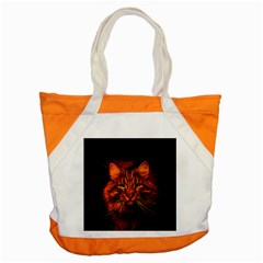 Cat Digiart Artistically Cute Accent Tote Bag