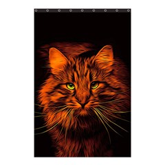 Cat Digiart Artistically Cute Shower Curtain 48  X 72  (small)  by Simbadda