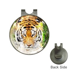Tiger Watercolor Colorful Animal Hat Clips With Golf Markers by Simbadda