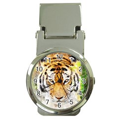 Tiger Watercolor Colorful Animal Money Clip Watches