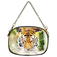 Tiger Watercolor Colorful Animal Chain Purses (two Sides)