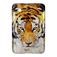 Tiger Watercolor Colorful Animal Samsung Galaxy Tab 2 (7 ) P3100 Hardshell Case