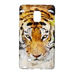 Tiger Watercolor Colorful Animal Galaxy Note Edge