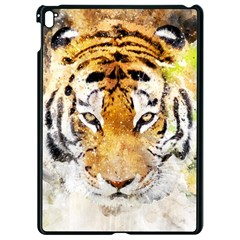 Tiger Watercolor Colorful Animal Apple Ipad Pro 9 7   Black Seamless Case