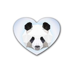 Background Show Graphic Art Panda Heart Coaster (4 Pack)