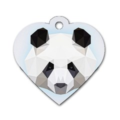 Background Show Graphic Art Panda Dog Tag Heart (two Sides) by Simbadda