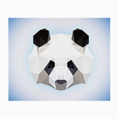 Background Show Graphic Art Panda Small Glasses Cloth (2 Side) by Simbadda
