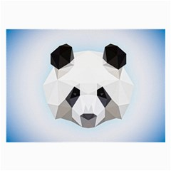 Background Show Graphic Art Panda Large Glasses Cloth (2 Side)