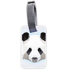 Background Show Graphic Art Panda Luggage Tags (one Side)  by Simbadda