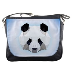 Background Show Graphic Art Panda Messenger Bags by Simbadda
