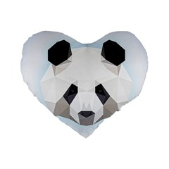Background Show Graphic Art Panda Standard 16  Premium Flano Heart Shape Cushions by Simbadda