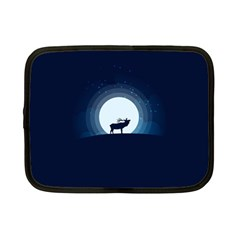 Moon Hirsch Wild Nature Antler Netbook Case (small)  by Simbadda