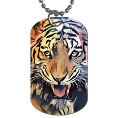 Tiger Animal Teeth Nature Design Dog Tag (two Sides)