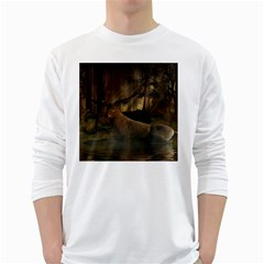 Mammal Nature Wood Tree Waters White Long Sleeve T Shirts