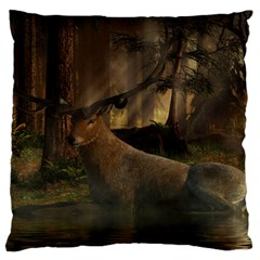 Mammal Nature Wood Tree Waters Large Cushion Case (two Sides) by Simbadda