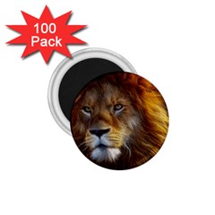 Fractalius Big Cat Animal 1 75  Magnets (100 Pack)