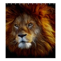 Fractalius Big Cat Animal Shower Curtain 66  X 72  (large)
