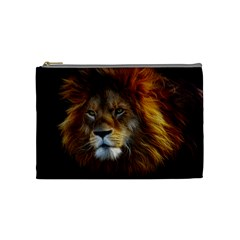 Fractalius Big Cat Animal Cosmetic Bag (medium)