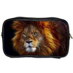 Fractalius Big Cat Animal Toiletries Bags 2 Side