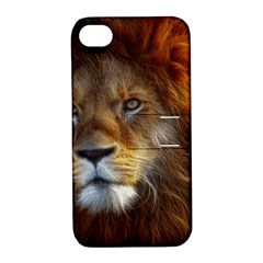 Fractalius Big Cat Animal Apple Iphone 4/4s Hardshell Case With Stand
