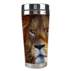Fractalius Big Cat Animal Stainless Steel Travel Tumblers by Simbadda